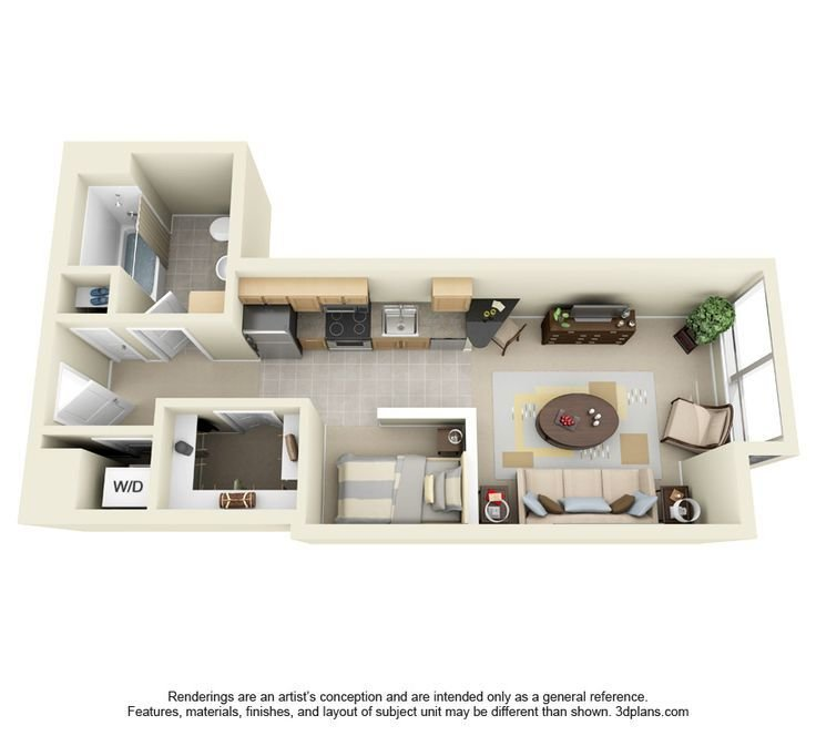 Best 1000 Images About One Bedroom Apt Plan On Pinterest With Pictures