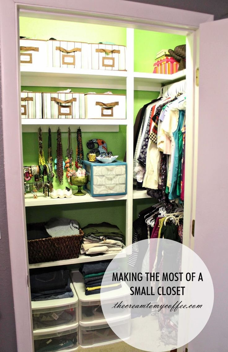 Best Making The Most Of A Small Closet Hang Clothes With Pictures