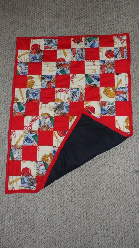 Best Vintage Baseball Theme Baby Quilt By Bdeesbags On Etsy With Pictures