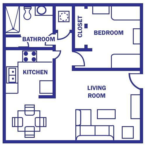 Best Floor Plan Under 500 Sq Ft Standard Floor Plan One With Pictures