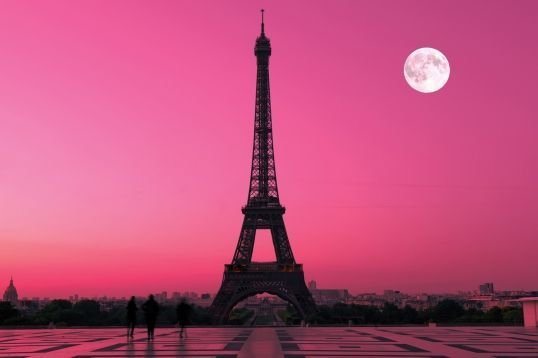 Best Paris Pink Sunset Wallpaper Mural Paris Pink Sunset And With Pictures