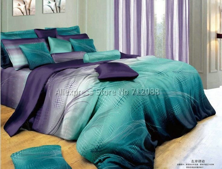 Best Cotton Mordern Design Blue Purple Geometric Pattern Hot With Pictures