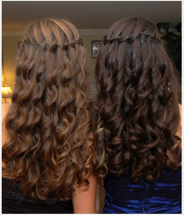 Free Waterfall Braid With Curls Hair Pinterest Wallpaper