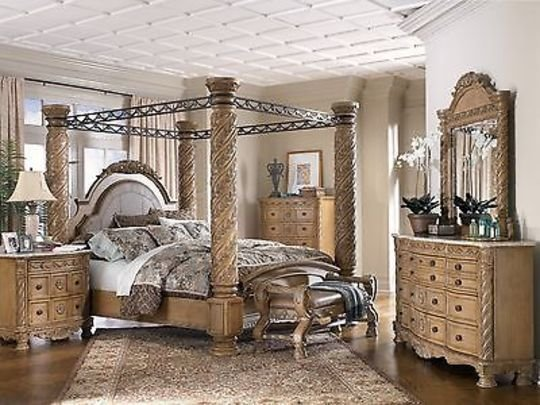 Best Ashley Furniture South Shore King Poster Canopy Bed With Pictures