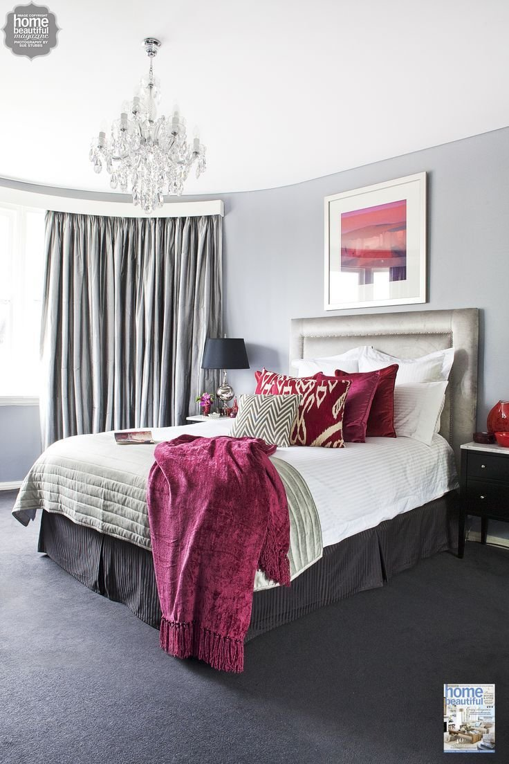 Best Rich Burgundy Touches Add Glamour To This Sydney Bedroom With Pictures