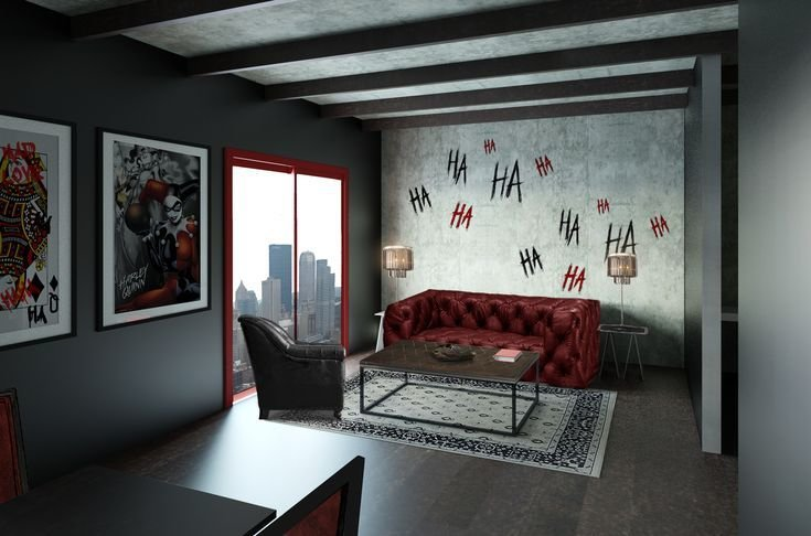 Best Living Room Harley Quinn Theme Get Your Room Designed With Pictures
