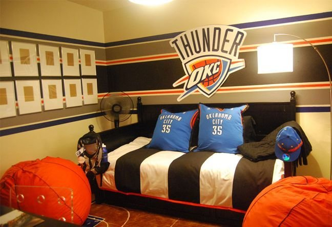 Best 44 Best Images About Okc Thunder Bedroom On Pinterest With Pictures