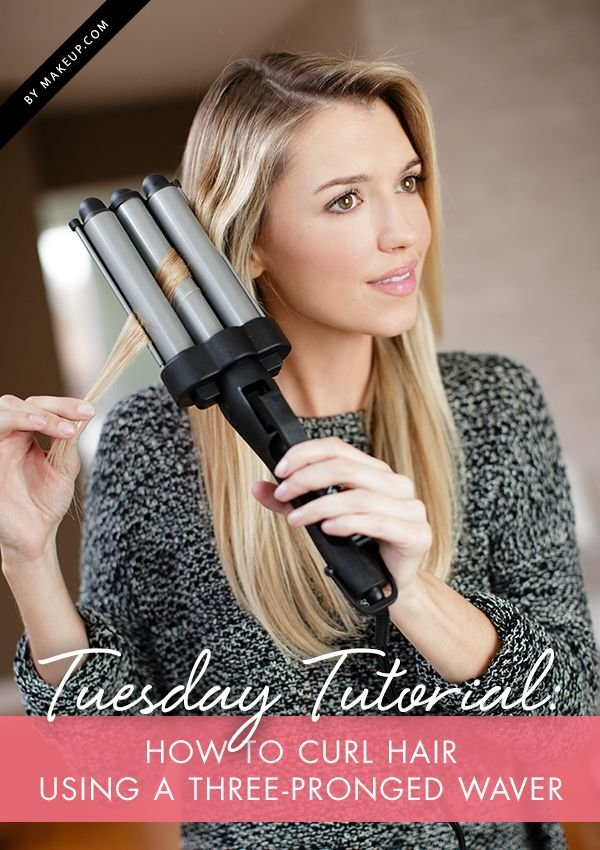 Free Tuesday Tutorial How To Curl Hair Using A Three Pronged Wallpaper