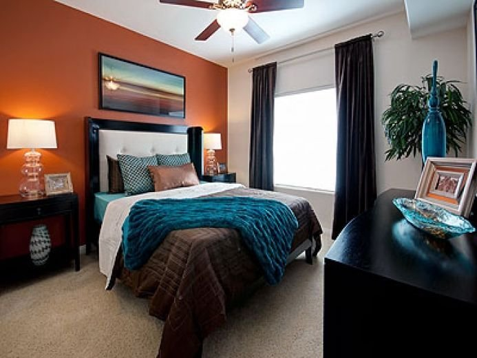 Best Love This Room The Orange Accent Wall With Teal And With Pictures