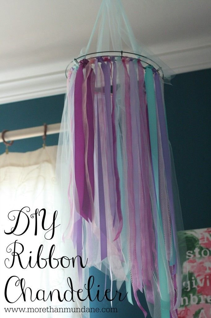 Best Diy Ribbon Chandelier Www Morethanmundane Com Diy With Pictures
