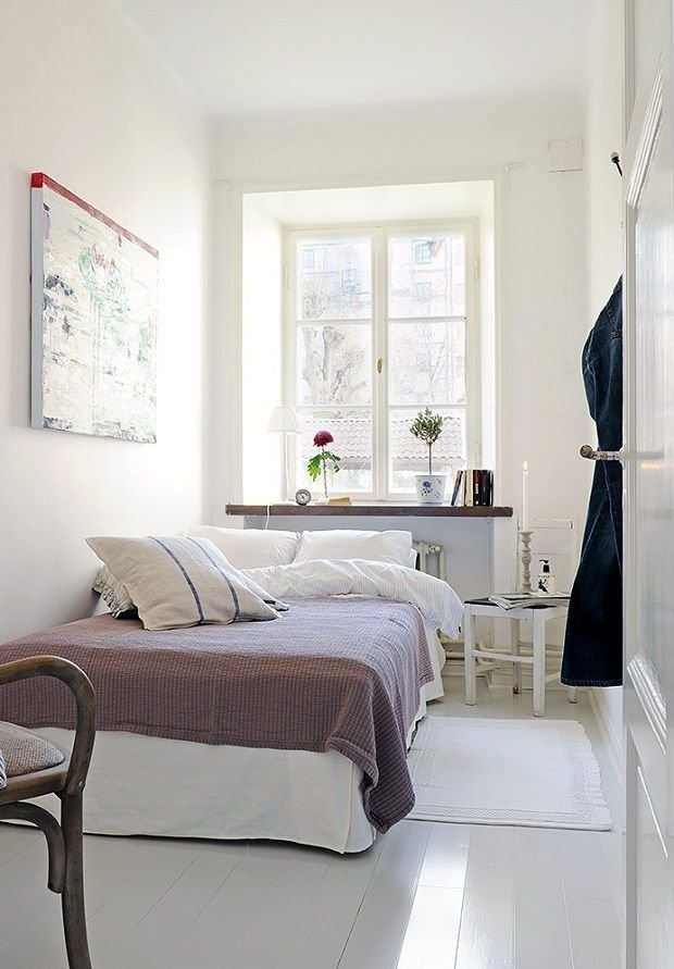 Best Minimalist White Tiny Bedroom Ideas With White Bed And With Pictures