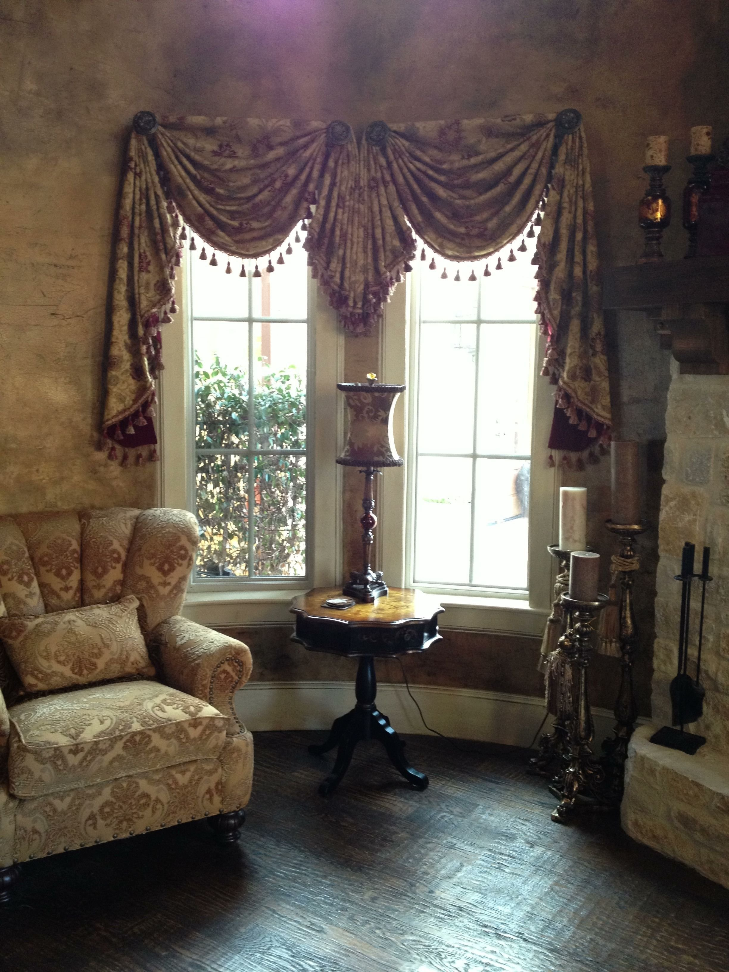 Best Round Room Swags And Jabot With Tassel Trim Faux With Pictures