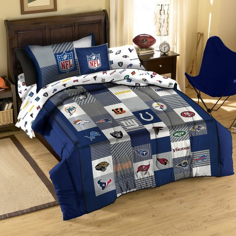 Best Nfl Football Logo Sport Twin Cotton Quilt Comforter Sham With Pictures