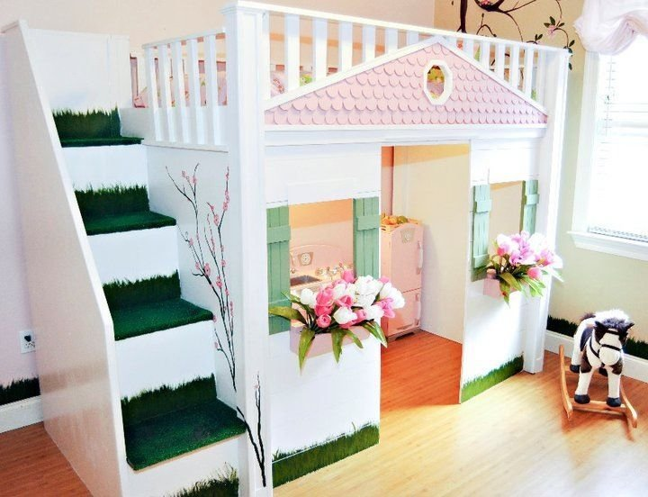 Best Children S Playhouse Bed2 Children S Rooms Pinterest With Pictures