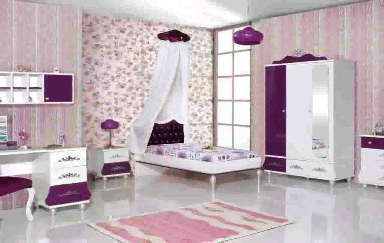 Best College Girl Bedroom Theme Pink And Purple Wall And With Pictures