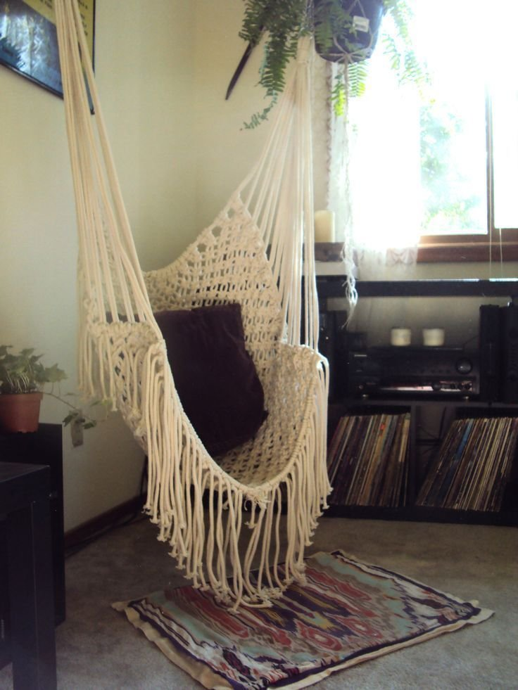 Best Hippy Hammock Macrame Chair Bohemian Living Pinterest Macrame Chairs Bedrooms And Room With Pictures
