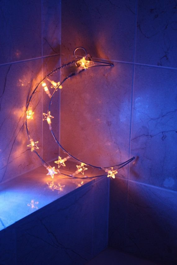 Best By The Lights Of The Moon Moon Fairy Light Moon Bedroom With Pictures
