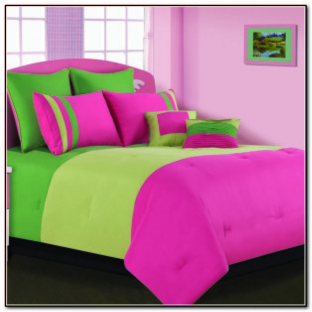 Best Pink And Lime Green Bedding Sets Beds Home Furniture With Pictures