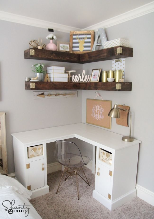 Best Diy Floating Corner Shelves Shanty2Chic Tutorials With Pictures