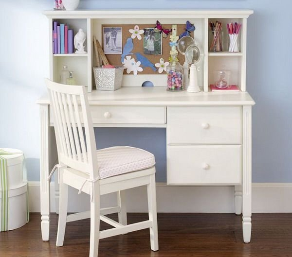 Best Girls Bedroom Ideas With Small White Study Desk And Chair With Pictures