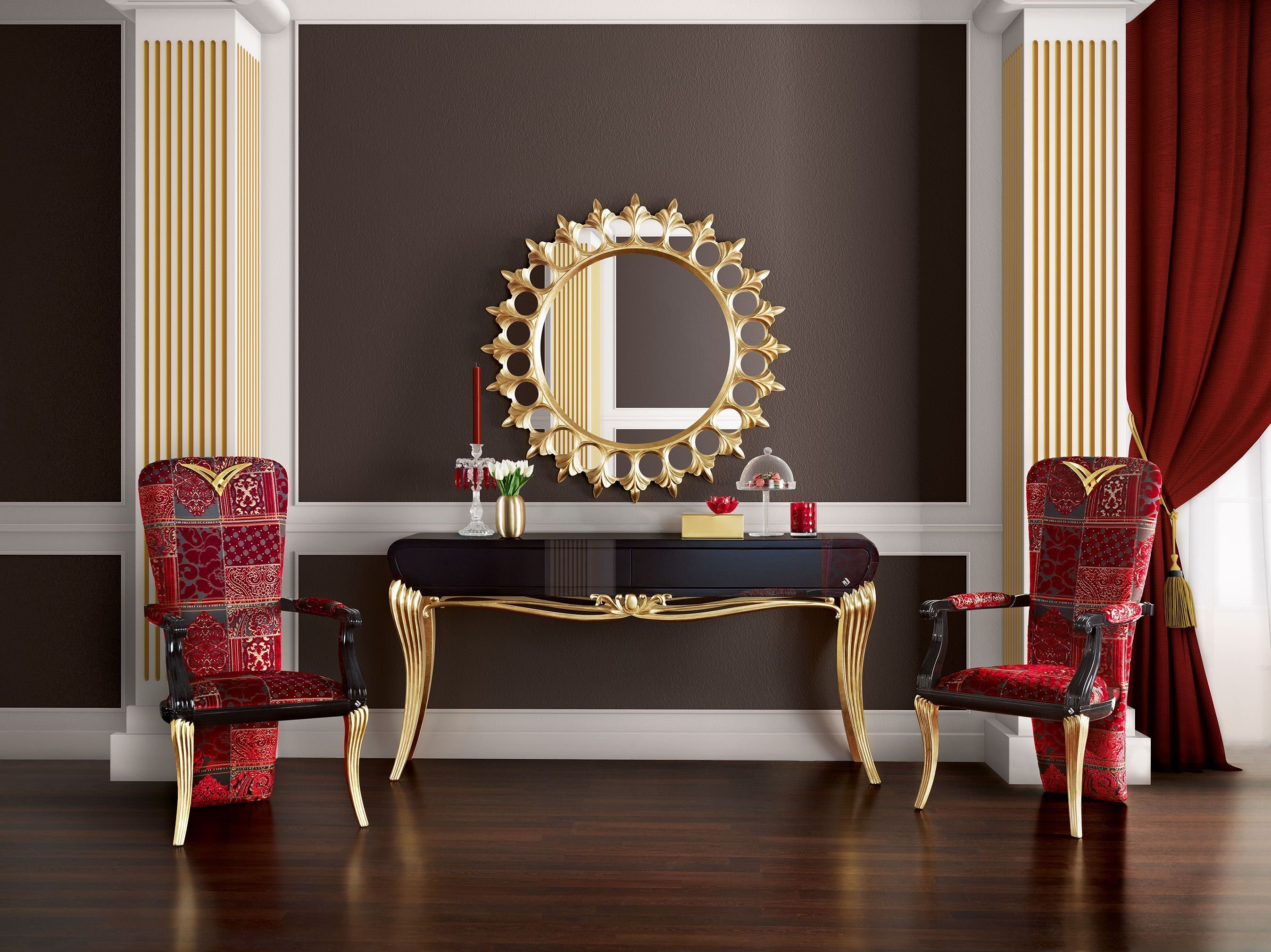 Best Spacium Console Mirror And Chairs Jetclass Real With Pictures