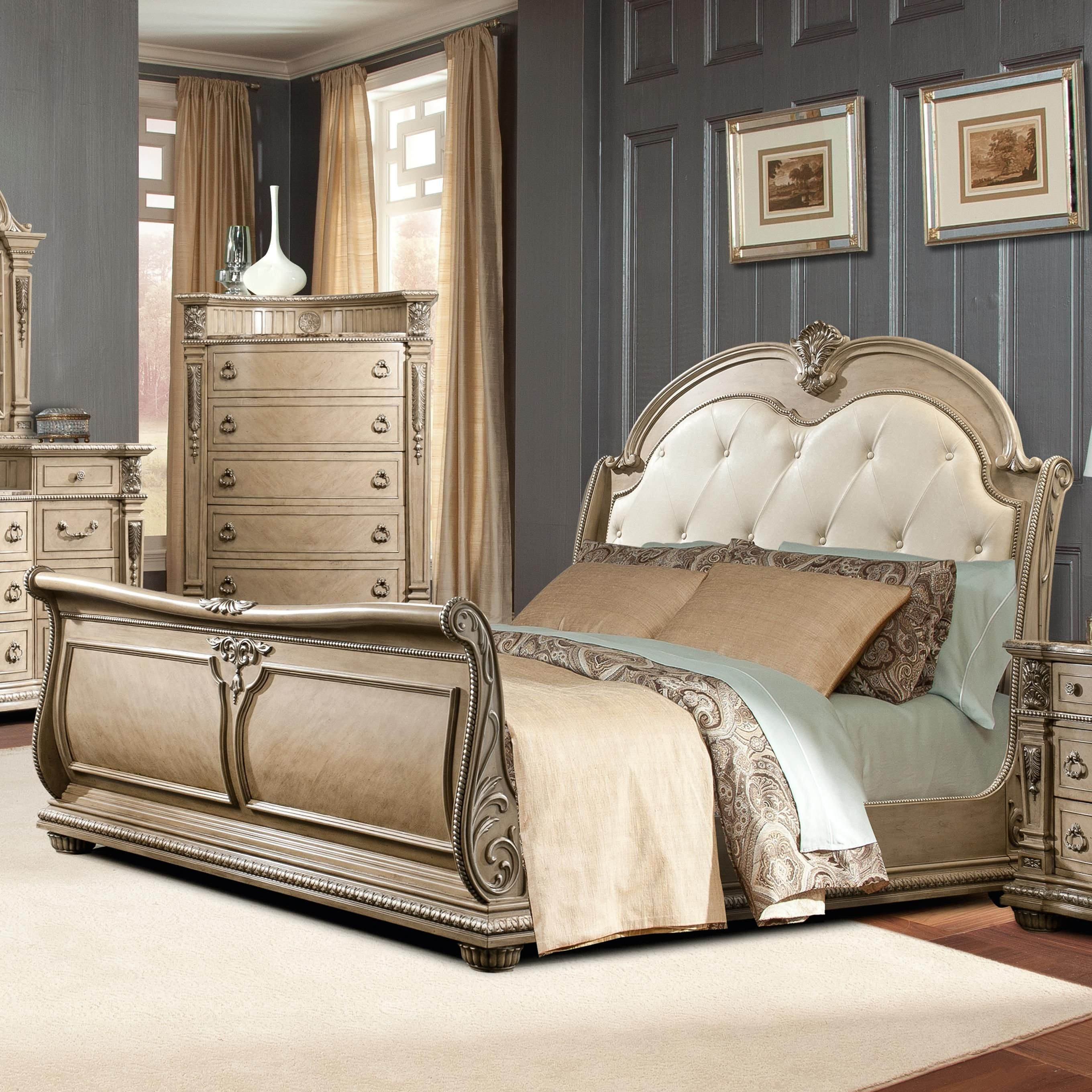 Best Monaco King Sleigh Bed By Davis International Home With Pictures