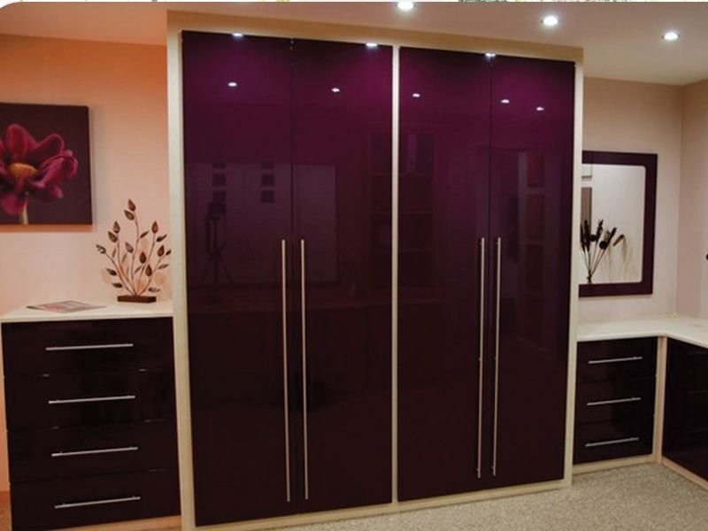 Best Gorgeous High Gloss Bedroom Furniture Purple White Color With Pictures