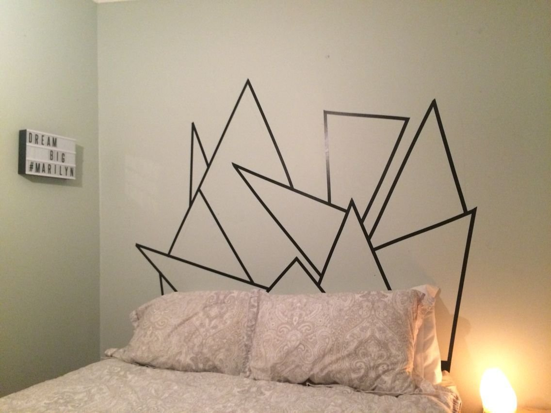 Best Washi Tape Headboard But Use Different Colors Possible With Pictures