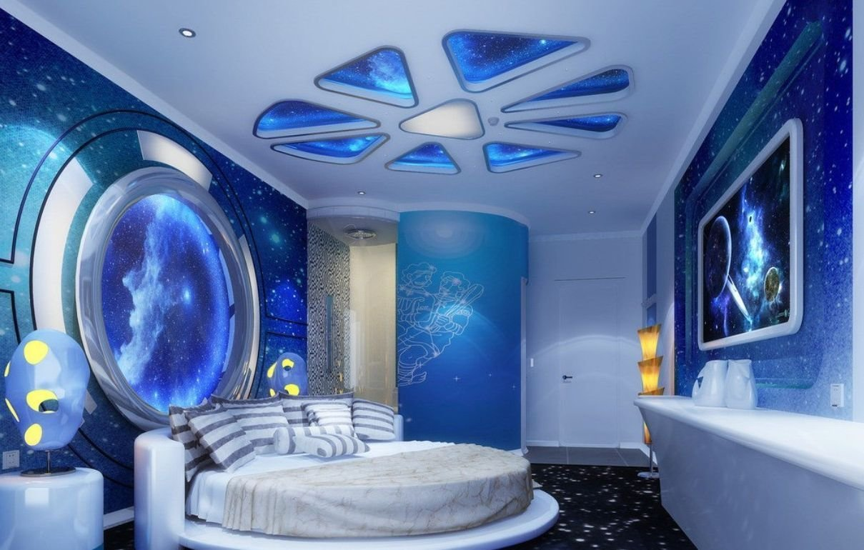 Best Kids Room Shining Star Ceiling Ideas Galaxy Space Scheme With Pictures