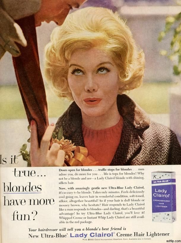 Free Lady Clairol January 1961 Vintage Ads Pinterest Wallpaper