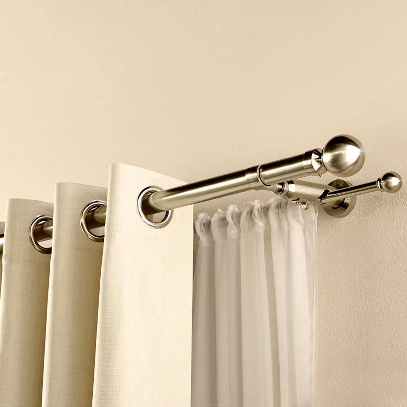 Best Satin Silver Duo Curtain Pole Dunelm Bedroom Pinterest Curtain Poles Satin And Living Rooms With Pictures