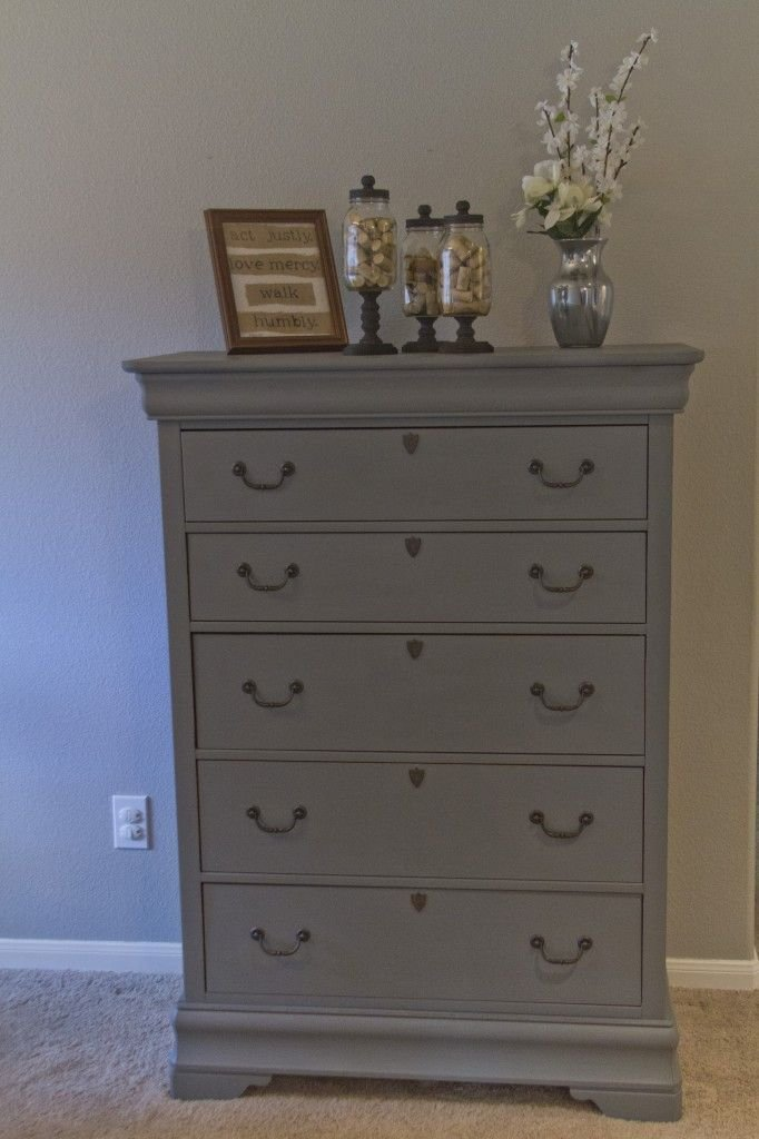 Best Tall Hand Painted Grey Dresser For Sale Master Bedroom With Pictures