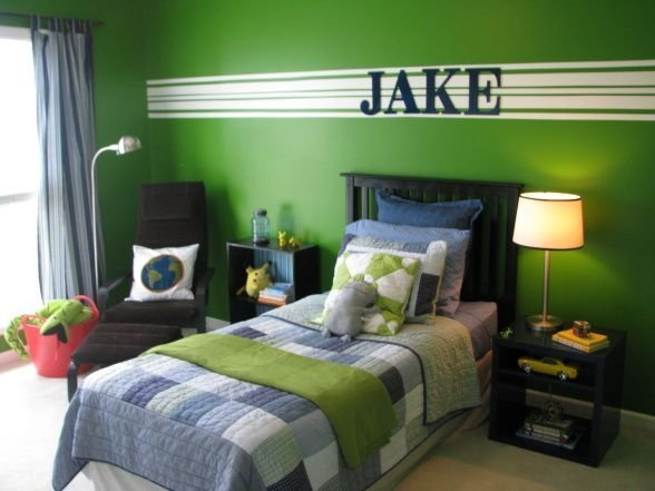 Best Boys Green Bedroom This Is My 8 Year Old Sons Bedroom With Pictures