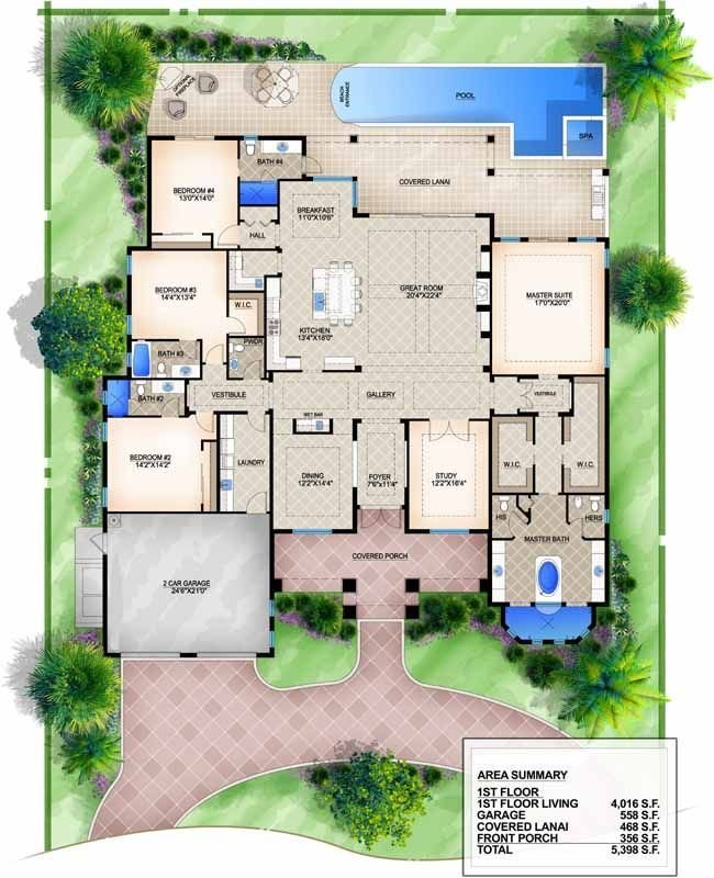 Best Luxury Style House Plans 4016 Square Foot Home 1 Story With Pictures