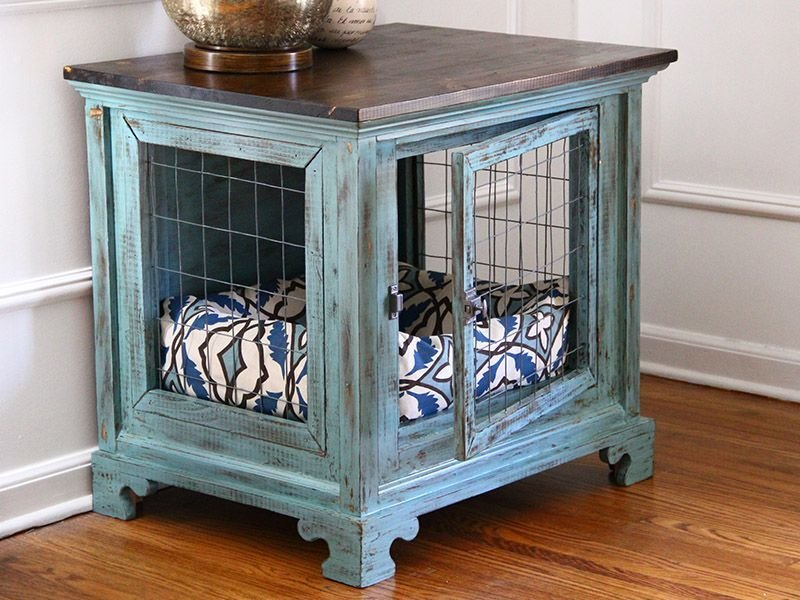 Best Dog Kennel Nightstands Charlotte 2 Bedroom Pinterest With Pictures