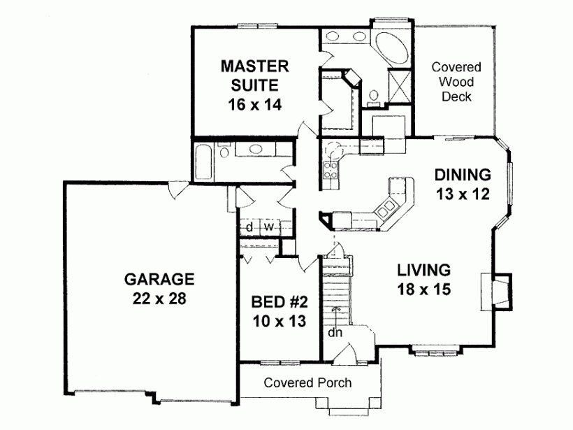 Best Simple Single Story 2 Bedroom House Plans Google Search With Pictures