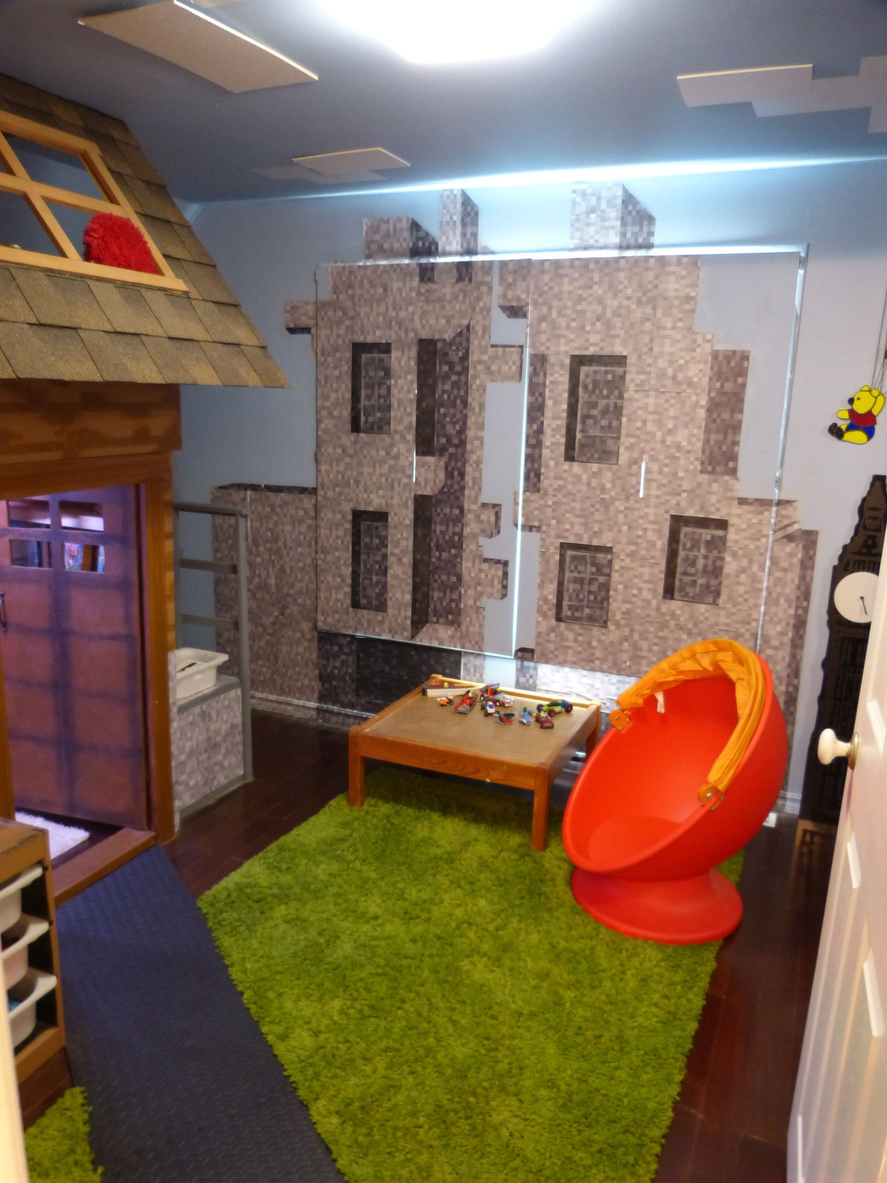 Best Bedroom Created To Look Like The Minecraft Village Created In The Computer Rooms For Kids With Pictures