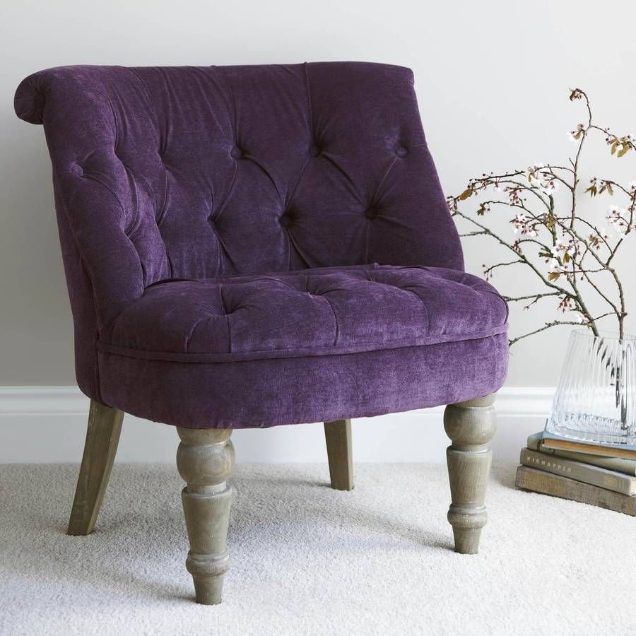 Best Purple Velvet Bedroom Chair By Primrose Plum With Pictures