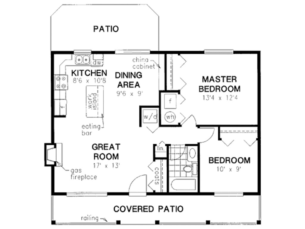 Best Cabin Style House Plan 2 Beds 1 Baths 900 Sq Ft Plan 18 With Pictures
