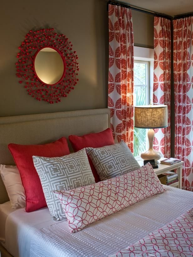 Best Red Curtains On Pinterest Bay Window Curtains Room With Pictures