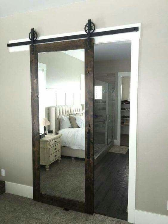Best A Barn Door Sliding Mirror Such A Great Idea With Pictures
