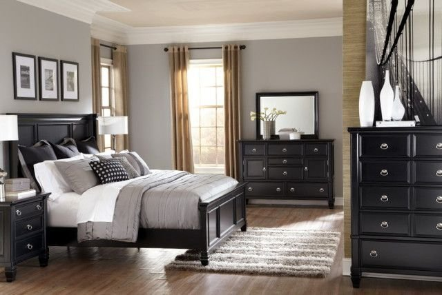 Best Gray Bedrooms Black Furniture Google Search Bedroom With Pictures