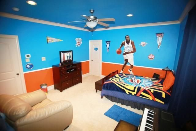 Best Oklahoma City Thunder Décor Bedroom Idea Wgrealestate With Pictures