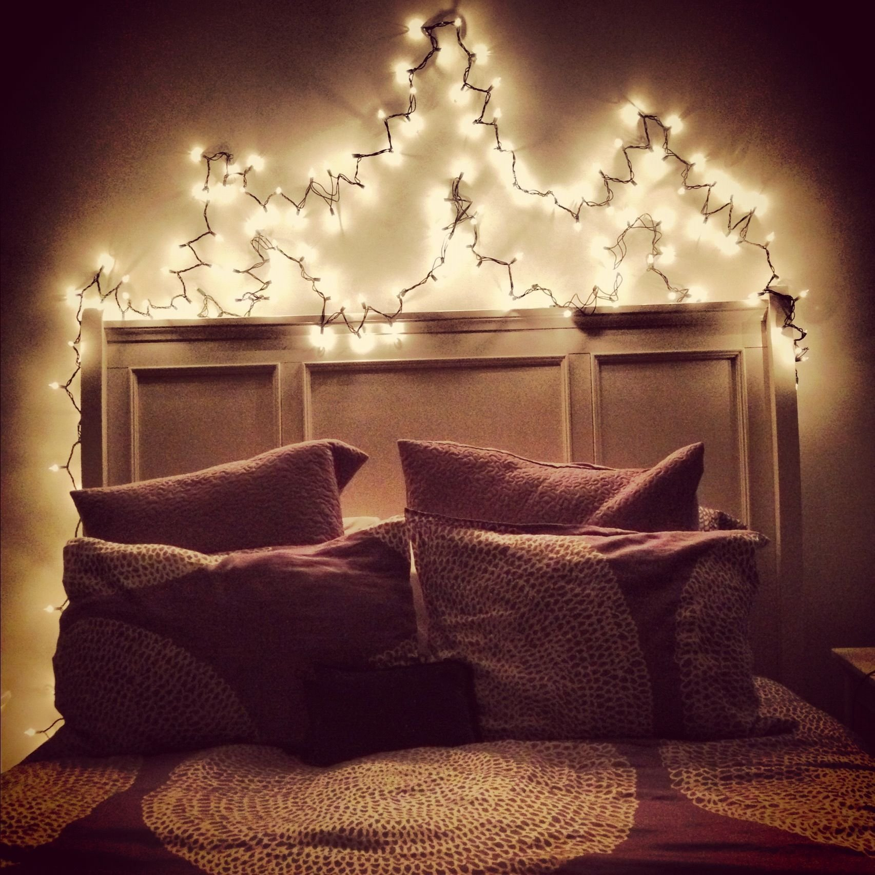 Best Christmas Lights Over Your Bed I Have This And I Love It With Pictures