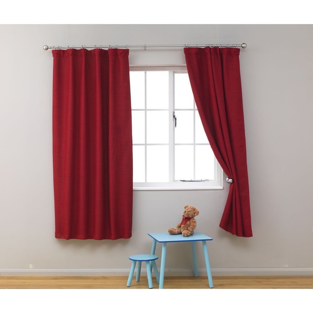 Best Kids Blackout Curtains 66In X 54In Red At Wilko Com Boys With Pictures