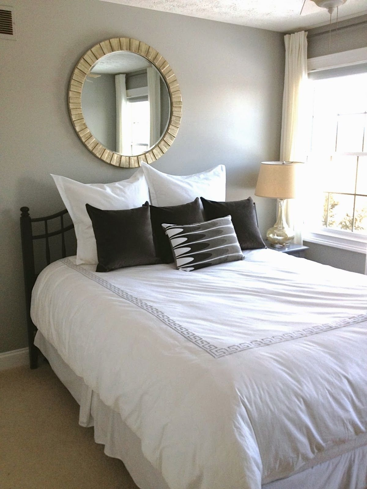 Best The Wall Color Is Bm Coventry Gray Our Guest Room Faces With Pictures