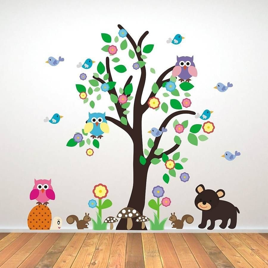 Best Kids Bedroom Woodland Tree Wall Sticker Wall Sticker With Pictures