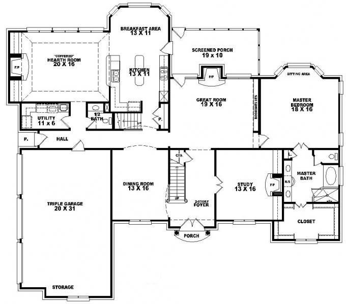 Best 653617 2 Story French Traditional Home With 4 Bedrooms With Pictures