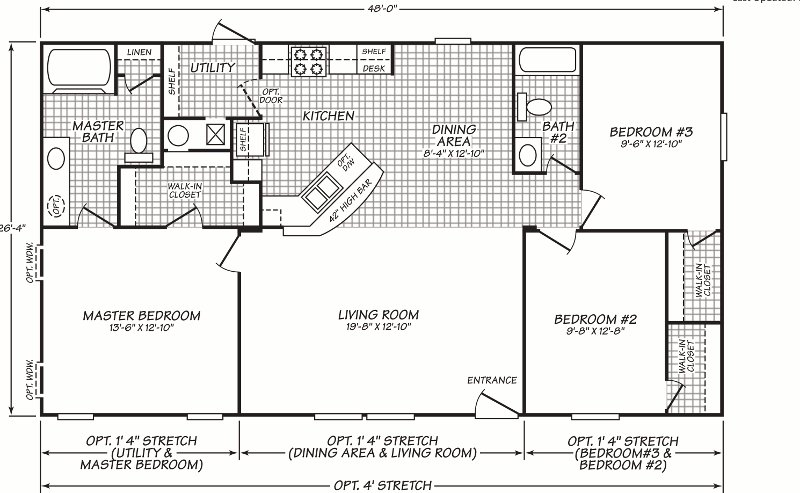 Best 3 Bedroom Double Wide Floor Plans Google Search With Pictures