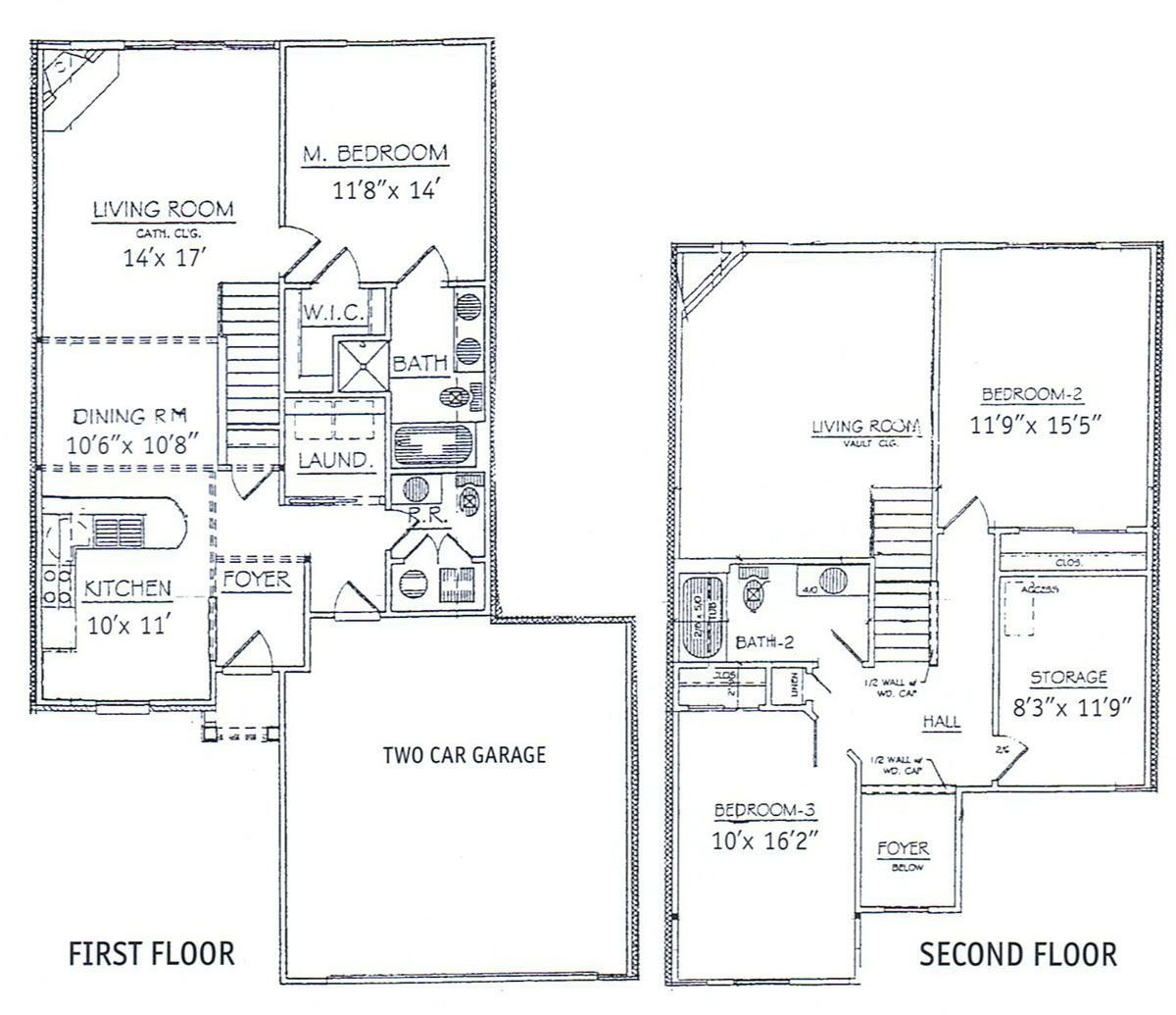 Best 3 Bedrooms Floor Plans 2 Story Bdrm Basement The Two With Pictures